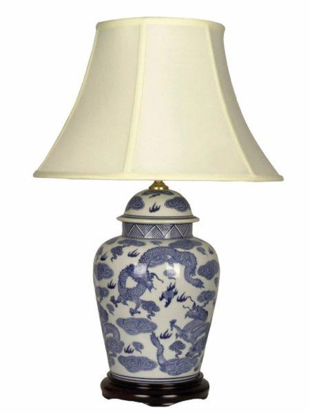 Chengdu Table Lamp Blue And White Porcelain